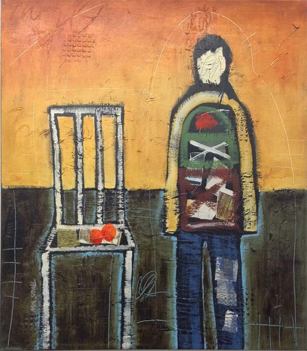 Let's Take a Break - Mixed Media on Canvas, Overview