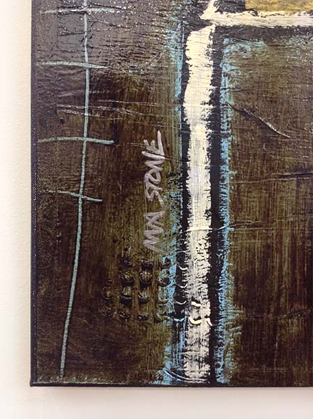 Let's Take a Break - Mixed Media on Canvas, Signature