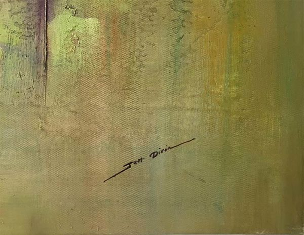 Linear Motion II by Jeff Dixon, Signature