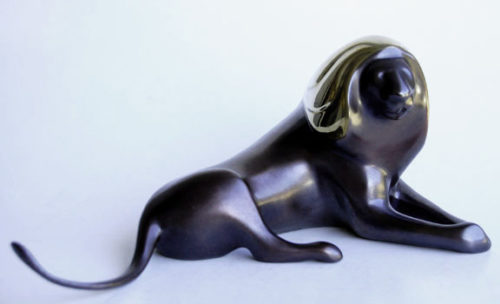 Lion - Loet Vanderveen Bronze Sculpture