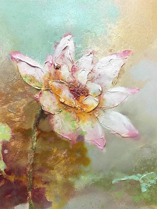 Lotus Flower Duet I, Detail