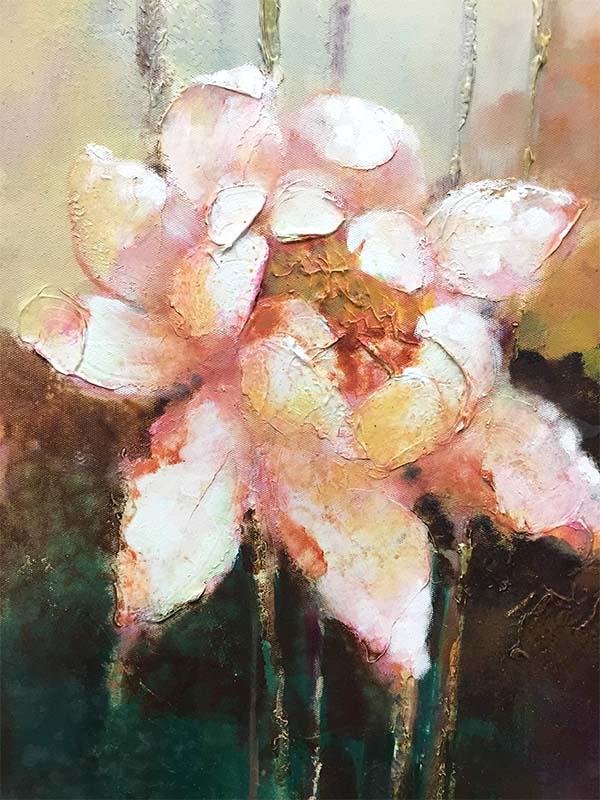 Lotus Flower Duet II, Detail