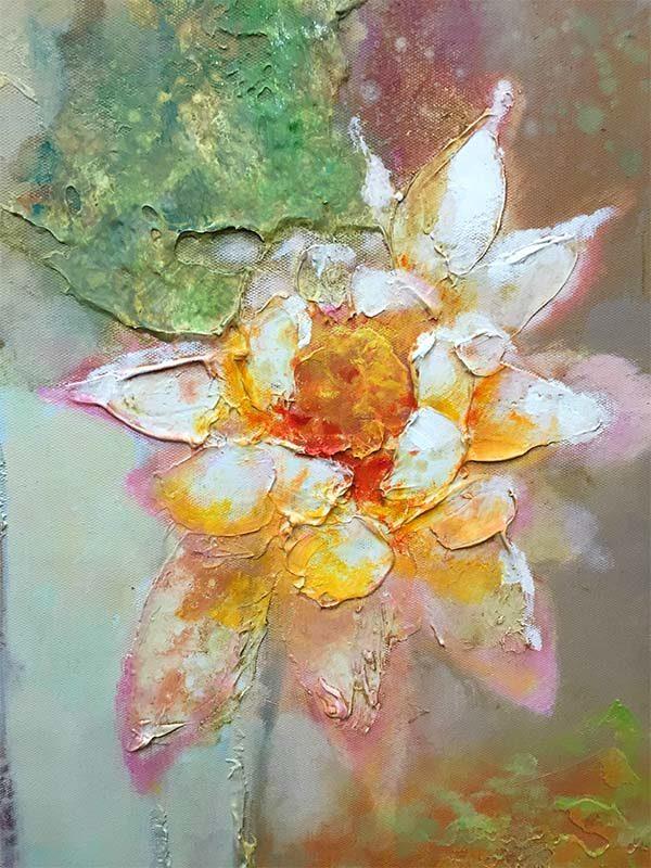 Lotus Flower Duet II, Texture