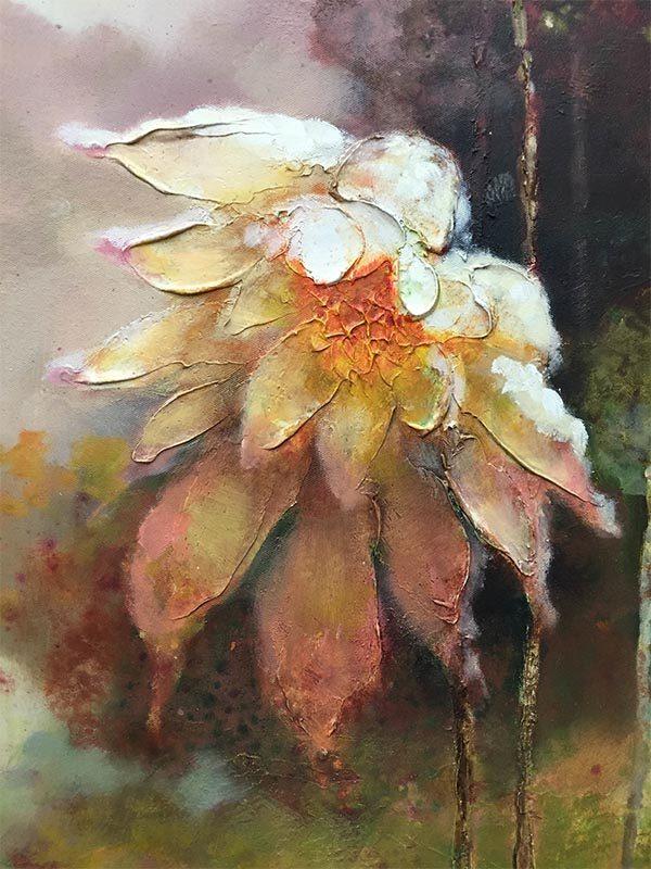 Lotus Flower Duet III, Detail