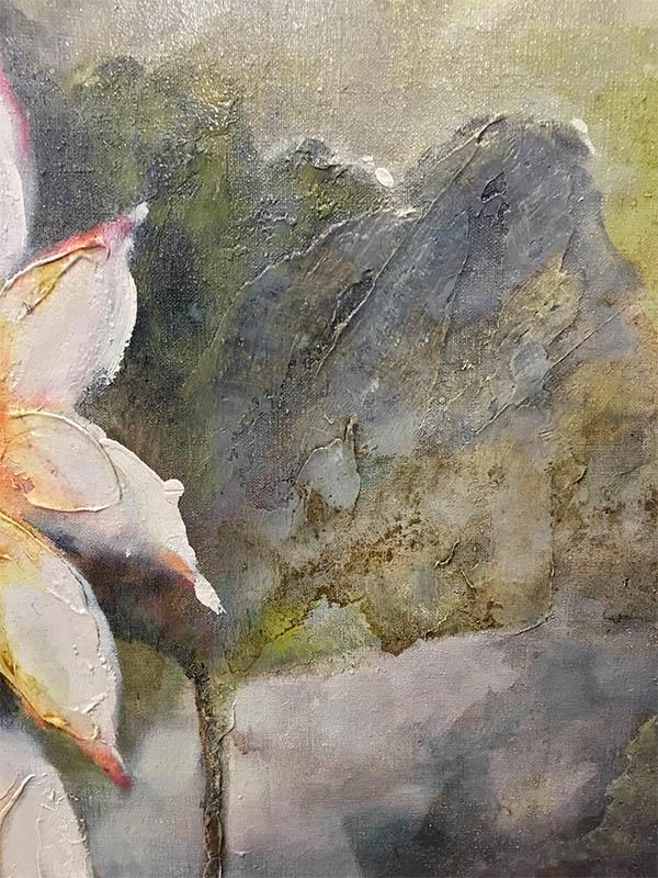 Lotus Flowers IV by Stefan Yi, Detail