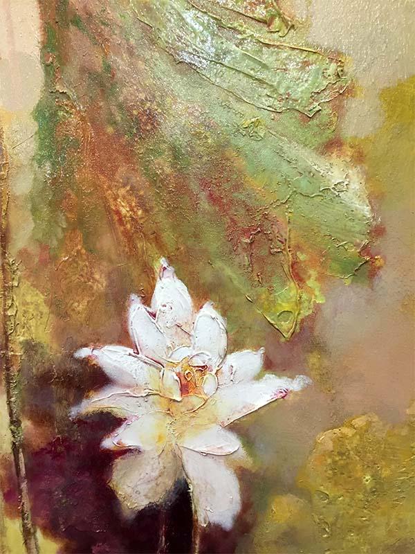 Lotus Flowers II by Stefan Yi, Texture