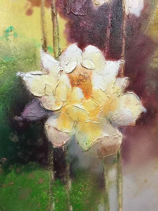Lotus Flowers II by Stefan Yi, Detail
