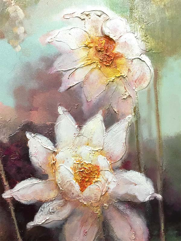Lotus Flowers III, Detail