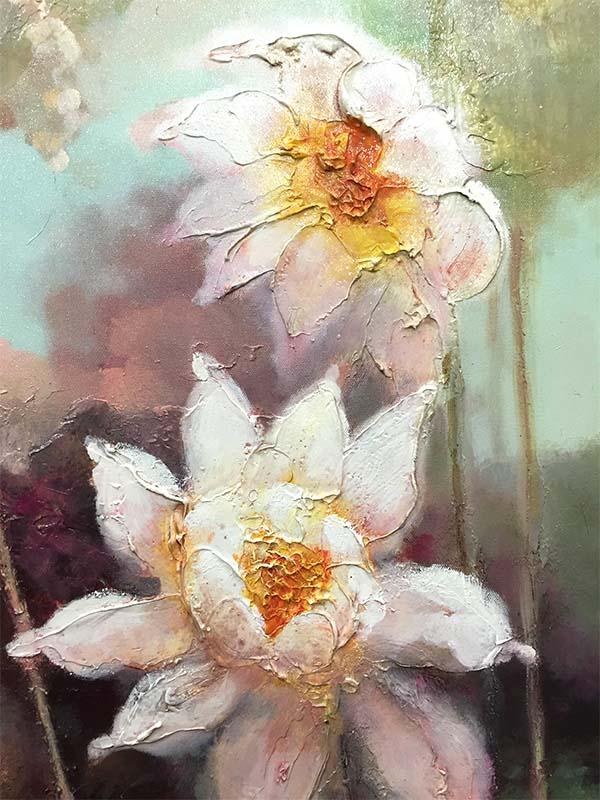 Lotus Flowers III, Detail