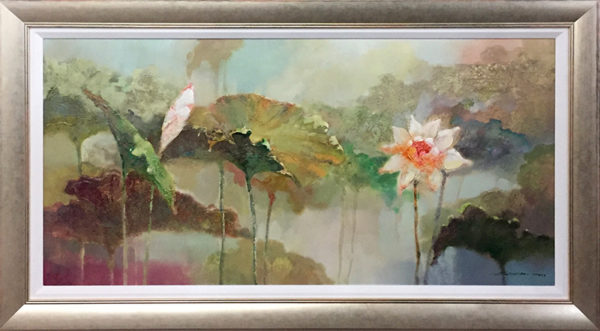 Lotus Haven, Framed