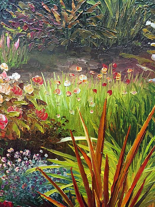 Luscious Garden by Evans, Detail