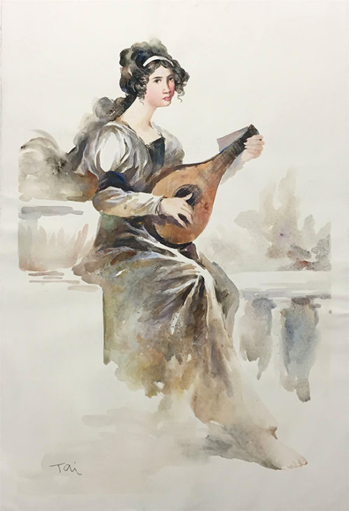 Mandolin Player by Wei Tai, Overview