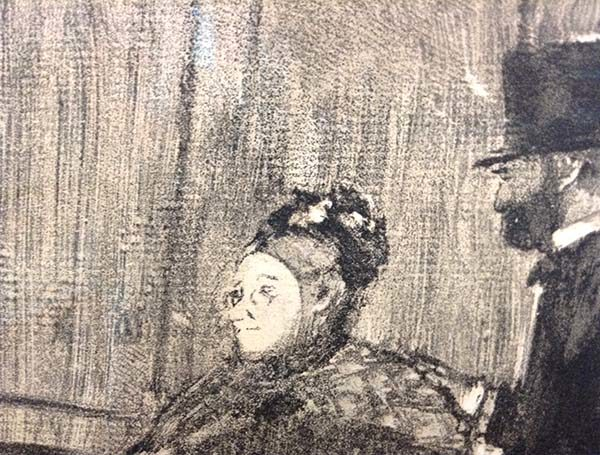 Edgar Degas - Ludovic Halevy Meeting Madame, Detail 1