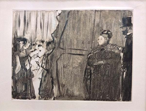 Edgar Degas - Ludovic Halevy Meeting Madame, Image