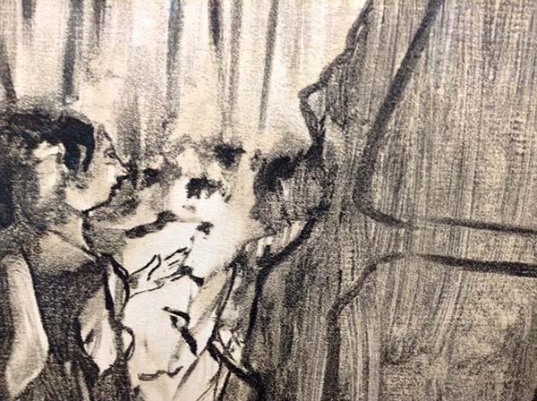 Edgar Degas - Ludovic Halevy Meeting Madame, Detail 2