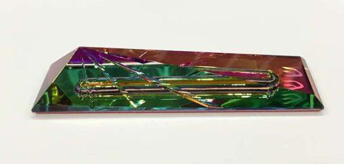 Crystal Mezuzah by Harold Lustig