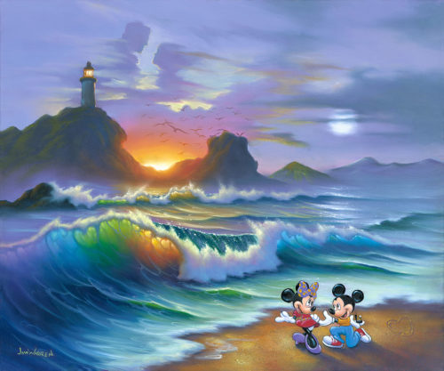Mickey Proposes to Minnie by Jim Warren