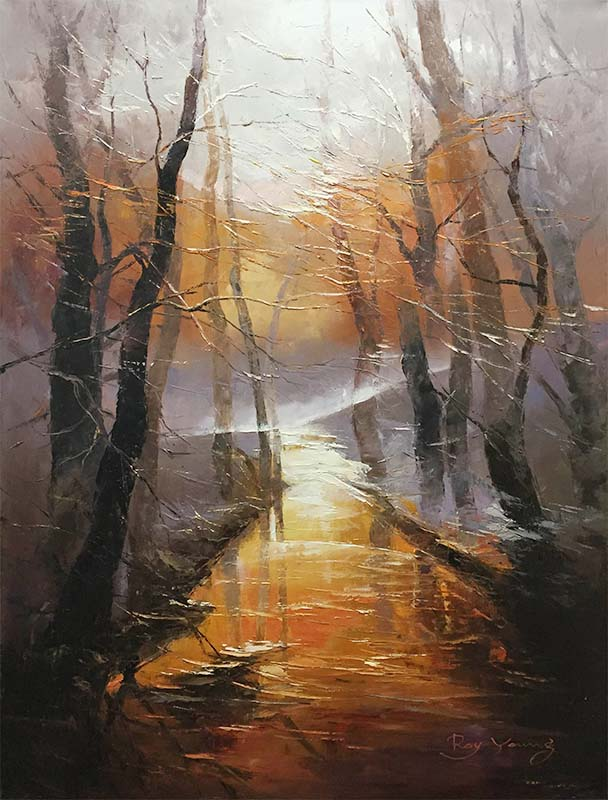 Misty Sunset by Roy Young, Overview