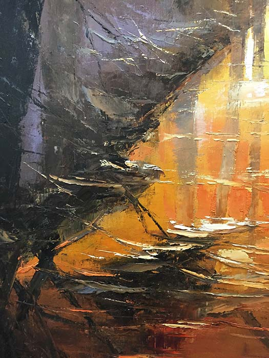 Misty Sunset by Roy Young, Detail