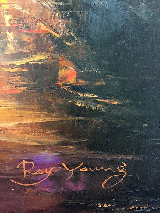 Misty Sunset by Roy Young, Signature
