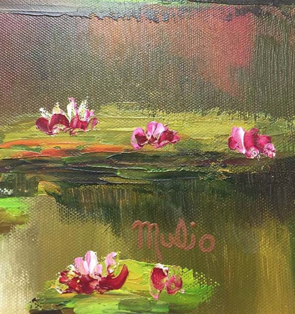 Water Lilies III by Mulio, Signature