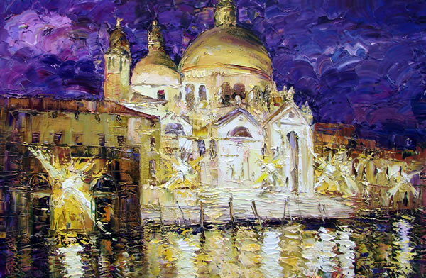 Venice at Night by Konstantin Savchenko
