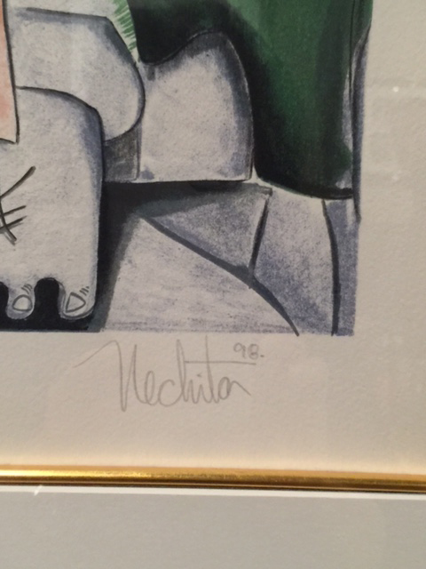 No Bridge Too Far by Alexandra Nechita, Signature