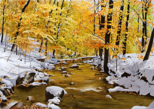 October Snowfall - Alexander Volkov Artwork