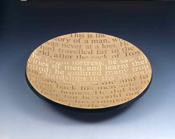 "Odyssey Platter, 14"" by Stephen Schlanser"