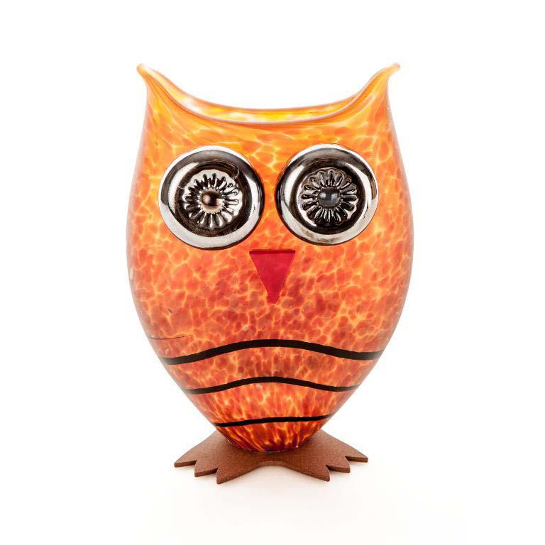 Owl Vase: 24-03-75 in Amber