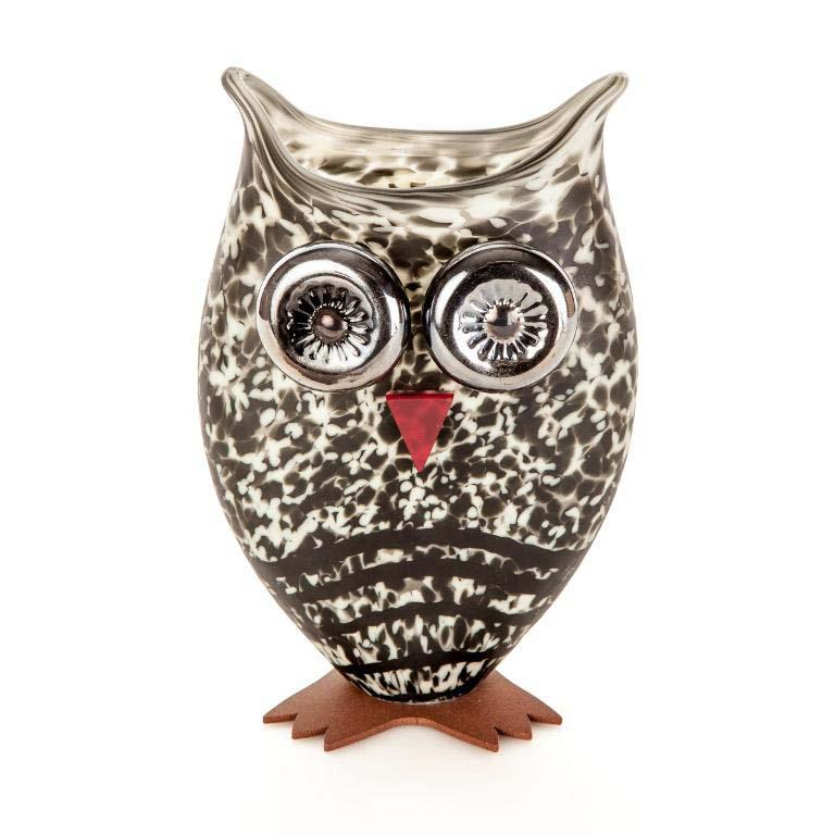 Owl Vase: 24-03-77 in Beige