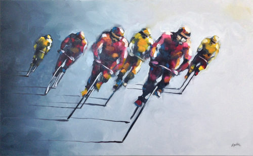 Peleton - Original Mixed Media Painting, View 1