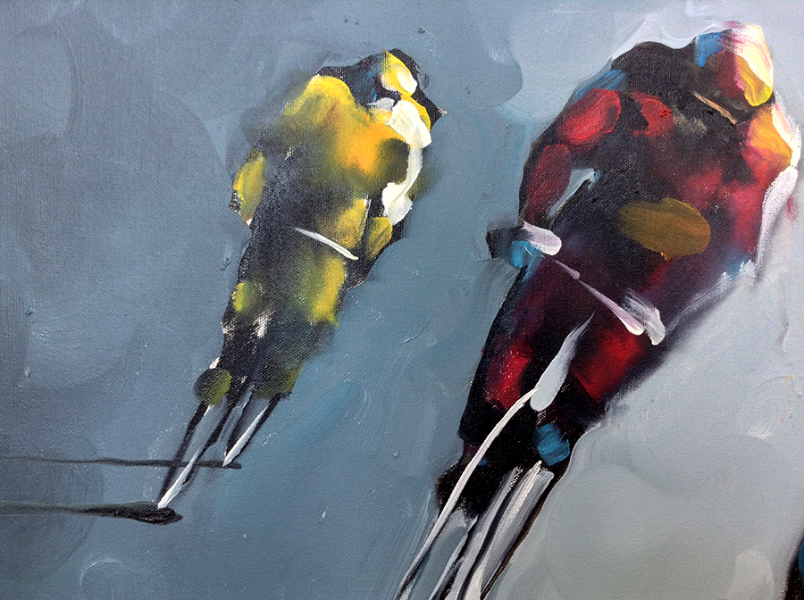 Peleton - Original Mixed Media Painting, View 3