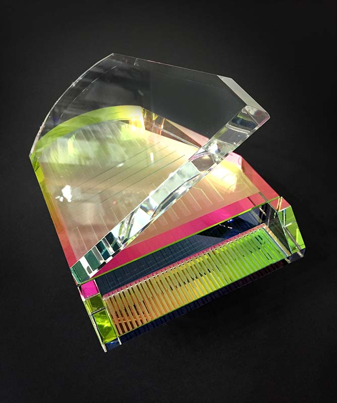 Crystal Grand Piano by Harold Lustig