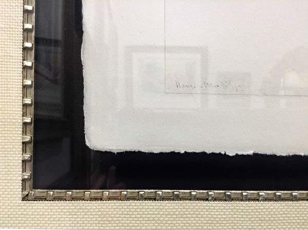 Henri Matisse - Planche XLV, Signature
