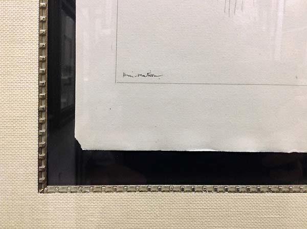 Henri Matisse - Planche XI, Signature