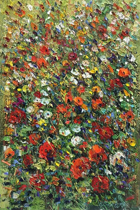Poppies in the Field by Konstantin Savchenko