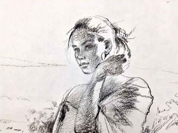 Promise - Original Pencil Sketch, Detail 1