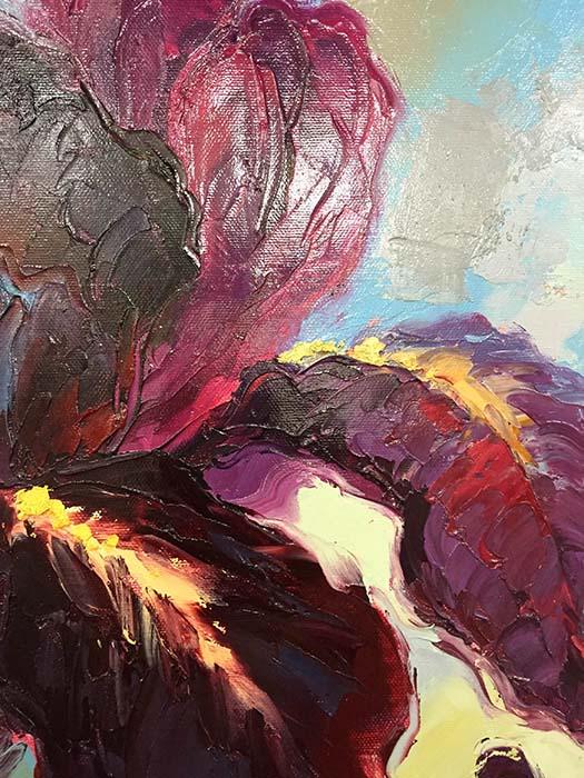 Purple Trio by Johnson, Detail