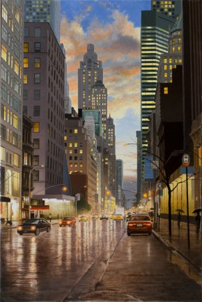 Rain in New York City by Alexander Volkov