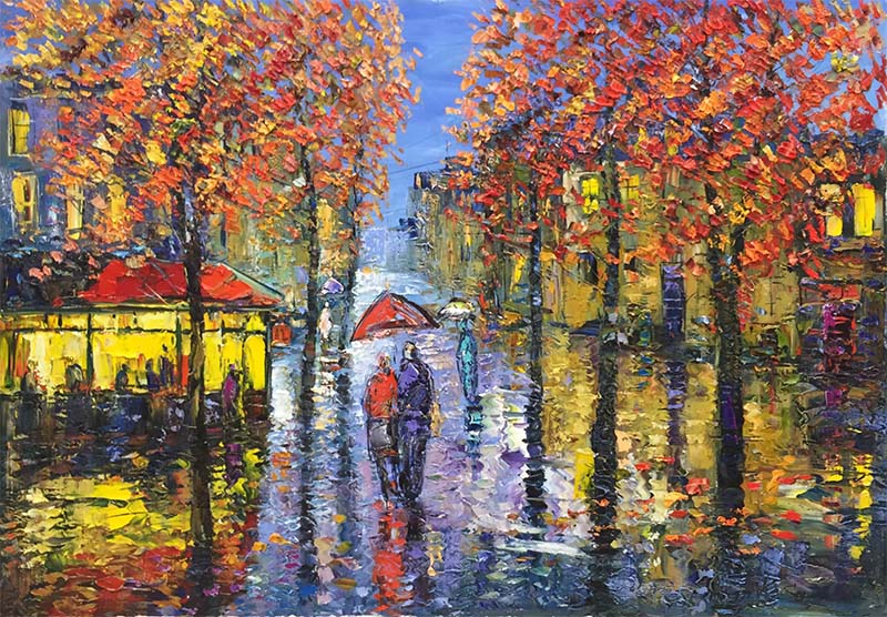 Rainy Evening by Konstantin Savchenko
