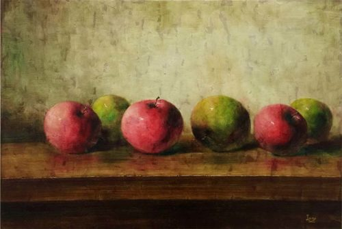 Red and Green Apples by Lang, Overview