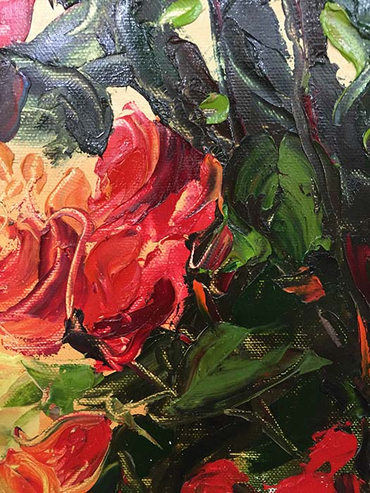 Red Rose Bouquet by Jamie P., Detail