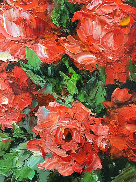 Red Rose Bouquet by Jamie Lisa, Detail 2