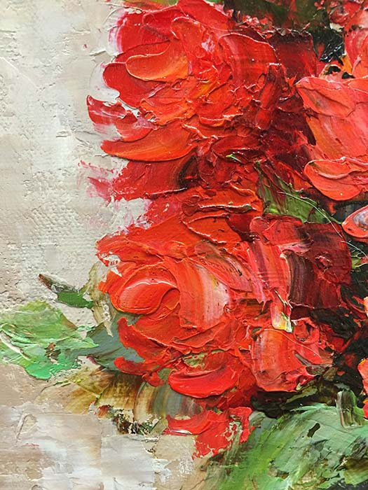 Red Rose Bouquet by Jamie Lisa, Detail 1