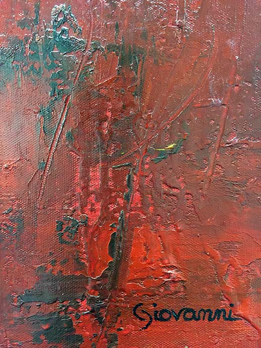 Red Tranquility II by Giovanni, Signature