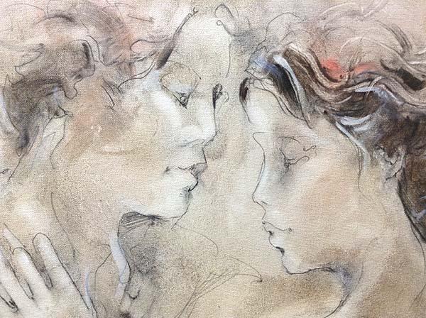 Renezvous - Original Painting on Canvas, Detail