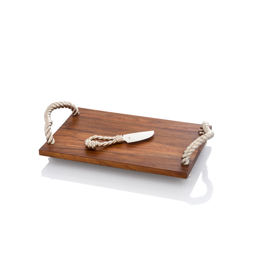 Rope Cheese Board with Knife, Item #144512