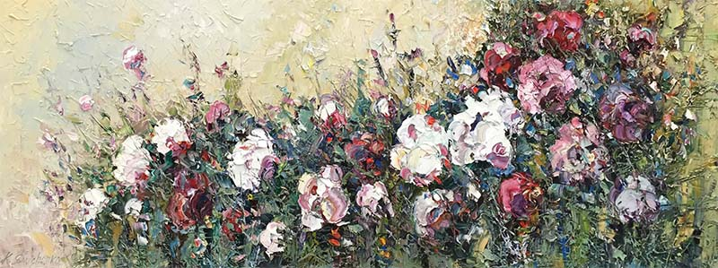 Rose Bush I by Konstantin Savchenko