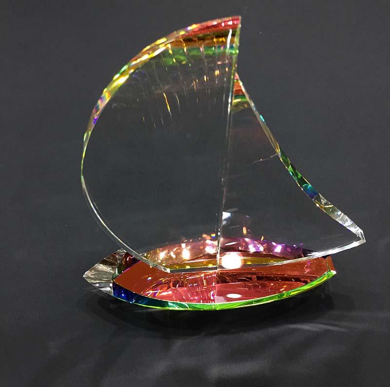 Crystal Sailboat by Harold Lustig